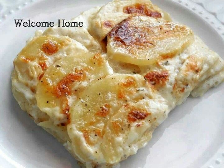 Easy Cheesy scalloped potatoes   Sides and Veggies   Pinterest