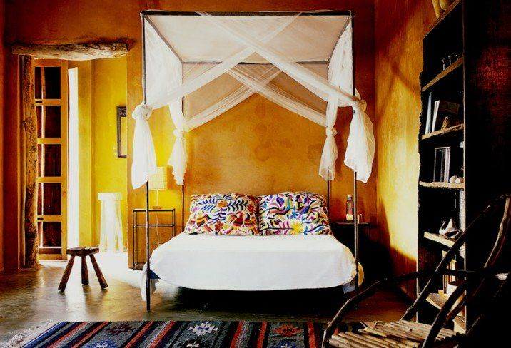 Mexican Inspired Rooms Bedrooms Pinterest