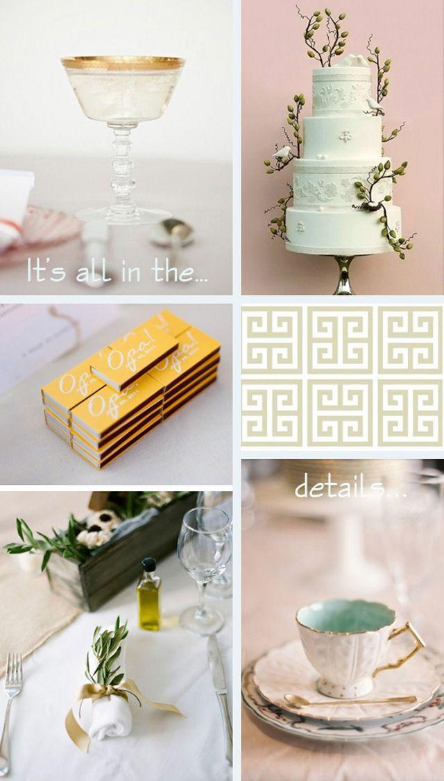 Grecian wedding decor details ~ wedding inspiration