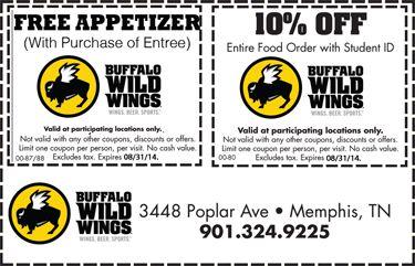 Buffalo wild wings coupon may 2018