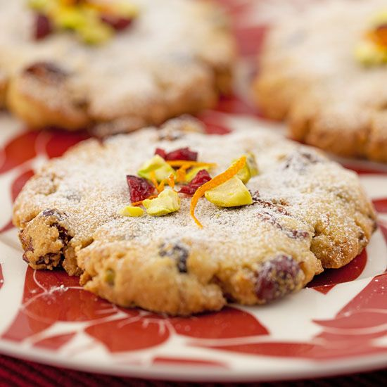 Susan Caron smith Orange, Cranberry & Pistachio Cookies gluten free