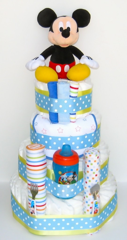 disney mickey mouse diaper cake baby mickey baby shower pinterest