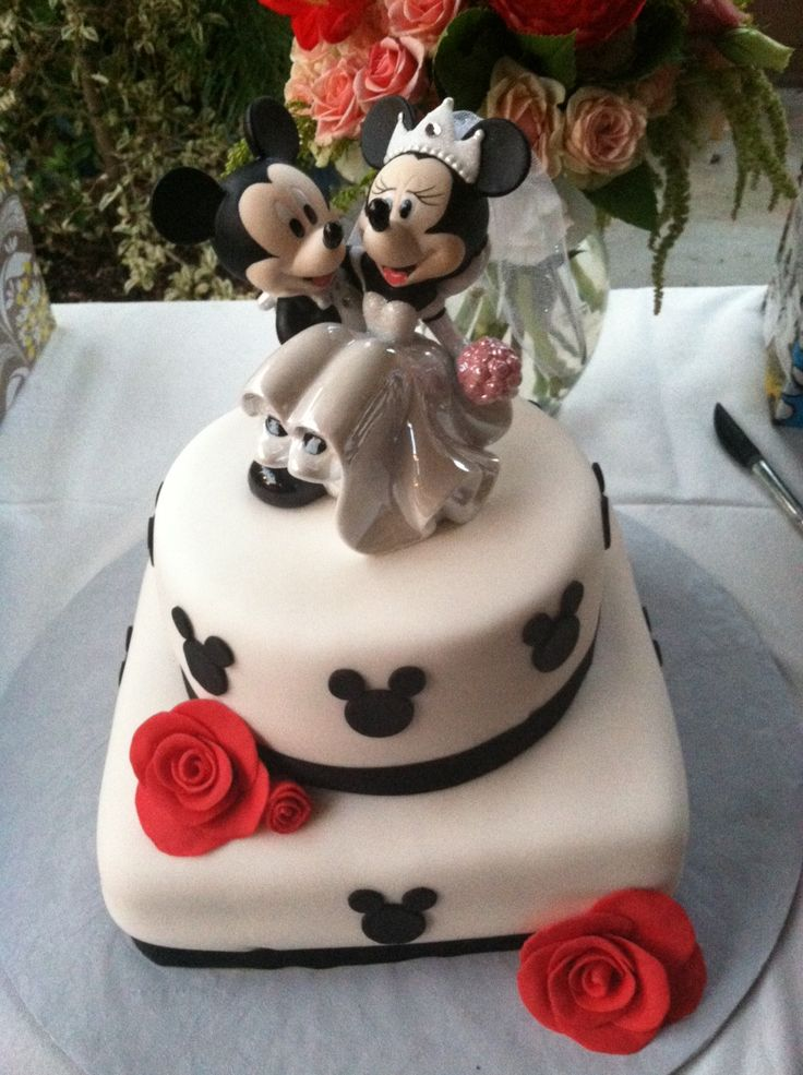 Simple disney wedding cake Wedding Cakes Pinterest