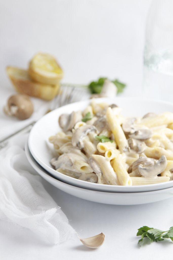 Creamy Mushroom Pasta www.bellalimento.com