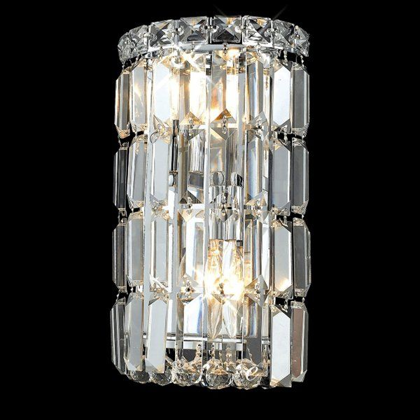 Elegant Lighting 2030W 2 Light Maxim Crystal Wall Sconce, Clear