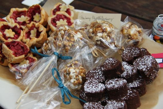 ... & Spicy Bacon Caramel Popcorn Balls/ Chocolate Heart Brownie Bites