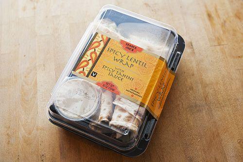 Spicy Lentil Wrap w/ Spicy Tahini Sauce. | TJ's favorites | Pinterest