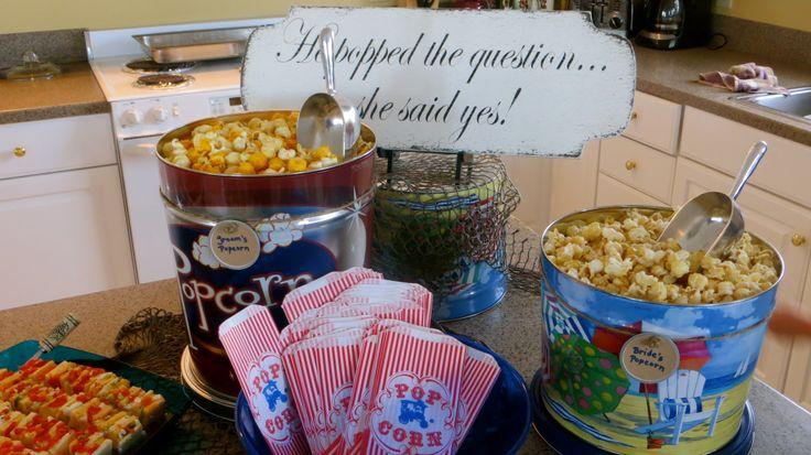 Popcorn Bar Ideas Popcorn Ideas Pinterest