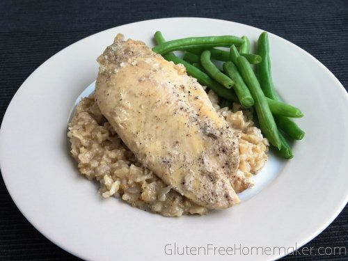 gluten free chicken and brown rice in the crock pot