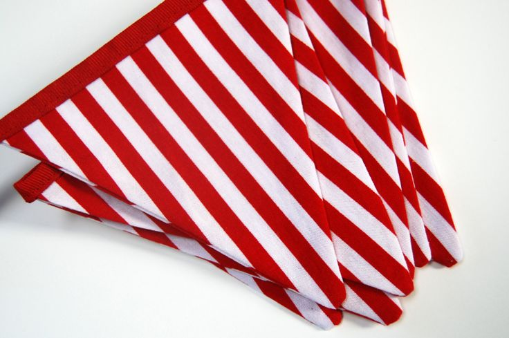 red and white flags with names