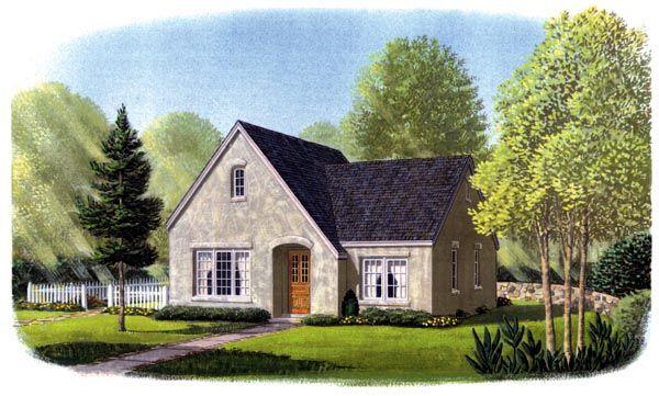 Cottage European House Plan 95584
