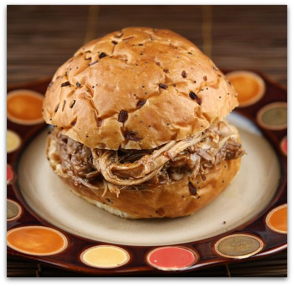 Slow Cooker Root Beer Pulled Pork Sandwiches #recipe