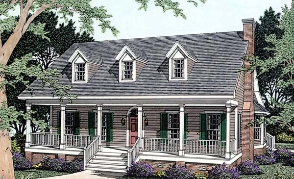 Cape cod country house plan 40032 for Country cape cod house plans