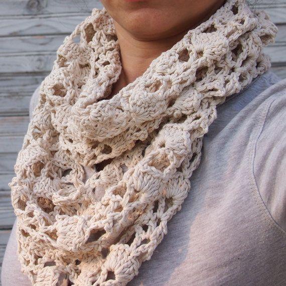 Crochet Infinity Scarf Pattern Lace Dancox For