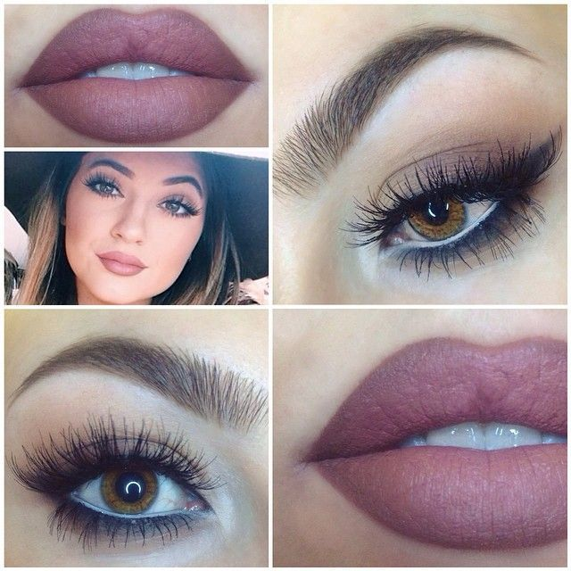 Kylie's makeup look.