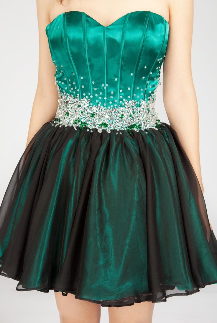 short emerald green dress love dresses pinterest