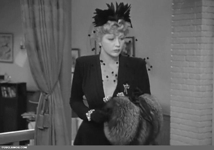 1941 Shadow of the Thin Man | 40s Hollywood Fur Fashion | Pinterest