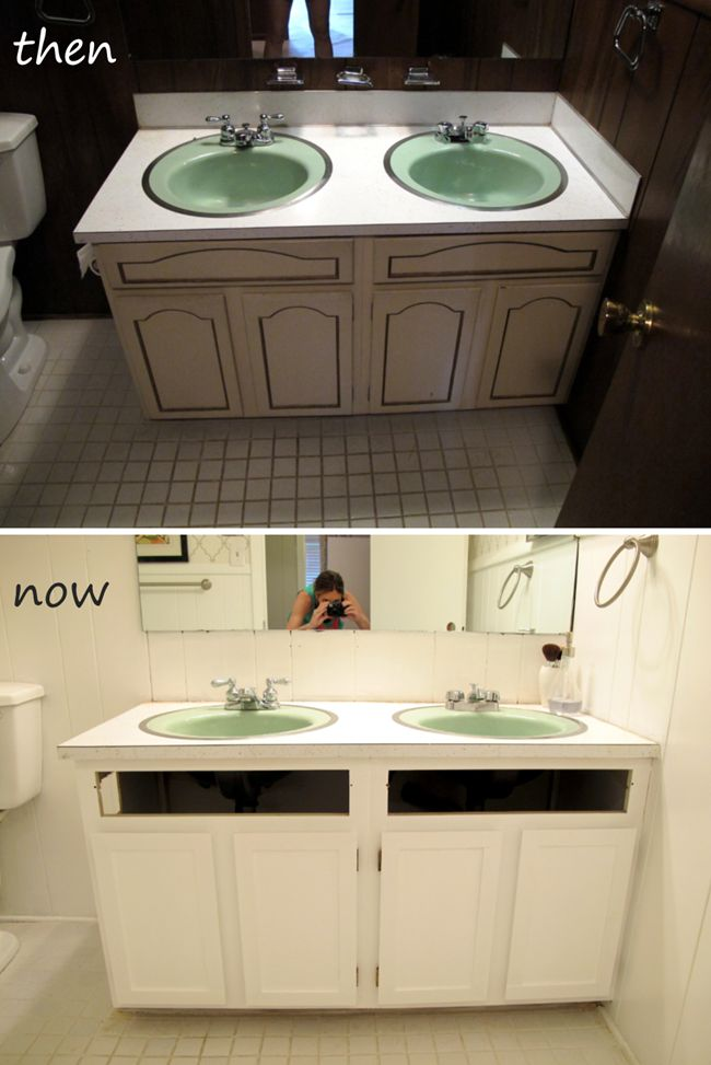 Refacing Bathroom Cabinets refacing bathroom cabinets yourself. http www homeliveable com