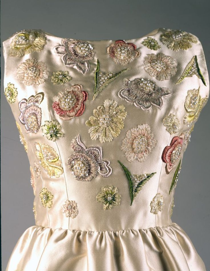 Givenchy Ivory Embroidered Evening Dress