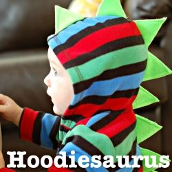 An easy tutorial on how to turn your little guy or girl into your very own cute dinosaur with a hoodie and some felt!