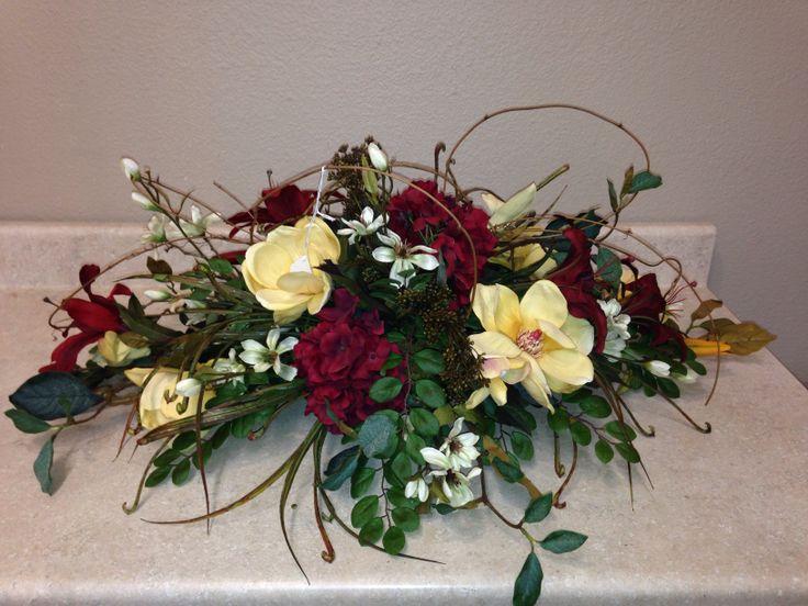 Low long centerpiece floral arrangements pinterest
