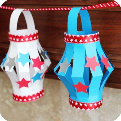 4th of july paper lantern craft