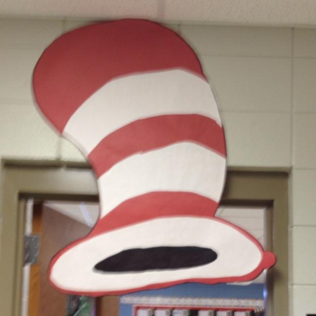 My cat in the hat door decoration classroom ideas pinterest
