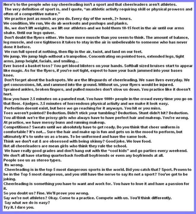 A sport essay