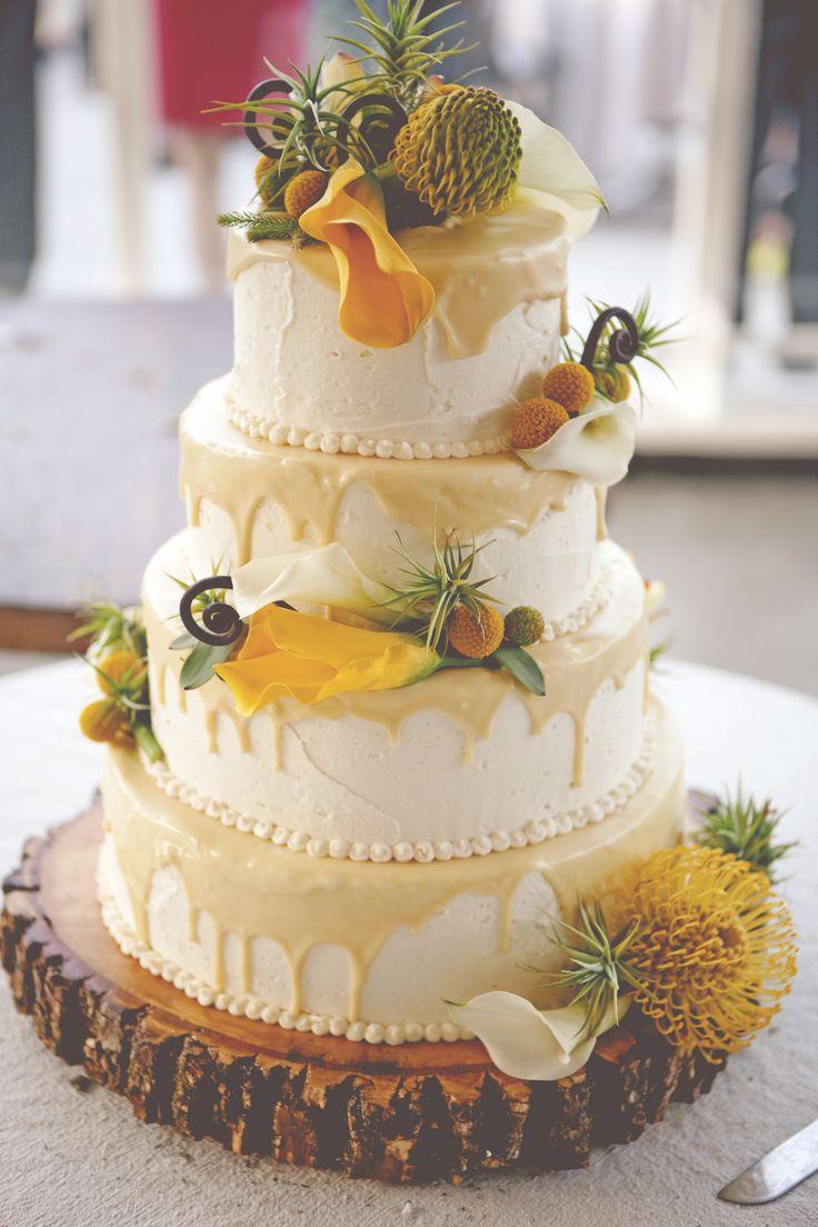 Lemon and White Chocolate Wedding Cake | Feather Love Weddings ...