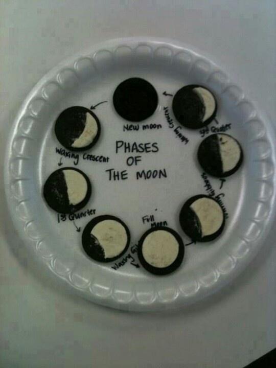 Oreo moon phases | Education | Pinterest