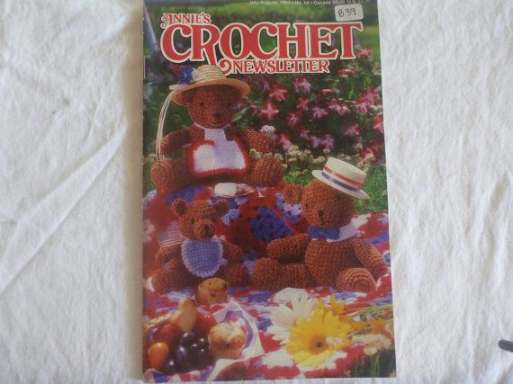 Annies Crochet Newsletter July/August. 1993 by CarolsCreations77, $4 ...