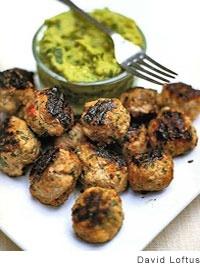 Spiced Pork Meatballs with Guacamole | Recipe