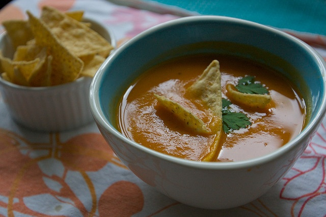 Sweet Potato and Chipotle Soup (soooo amazingly tasty, topped mine ...