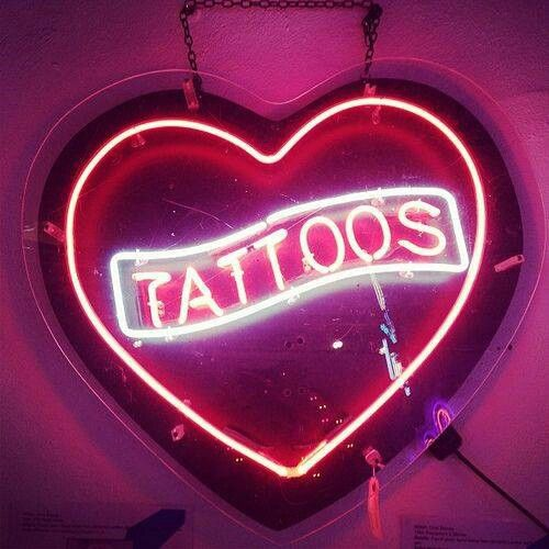 Neon tattoo sign cute shit pinterest for Neon tattoo signs