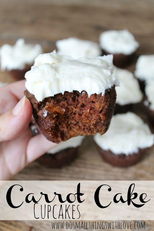 carrot cake cupcakes recipe--AMAZING!