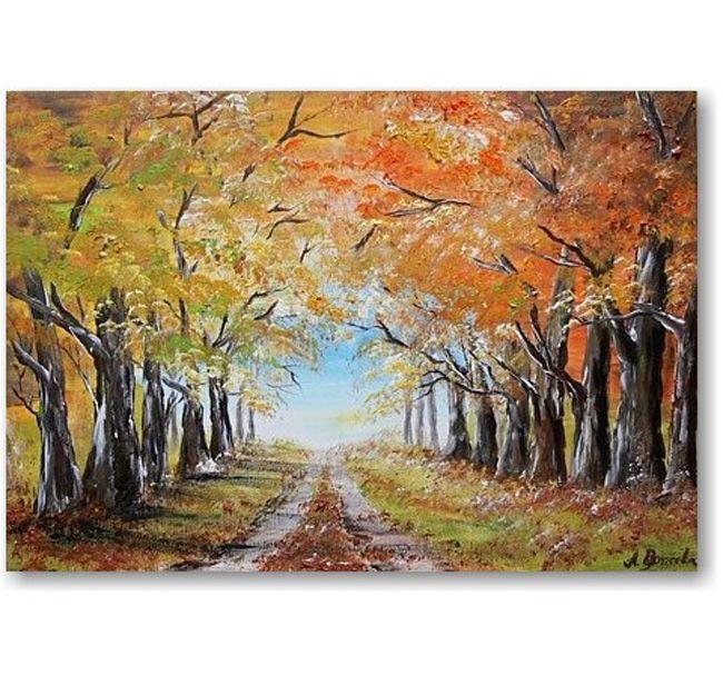 Schilderij Autumn Alley : Home : Pinterest