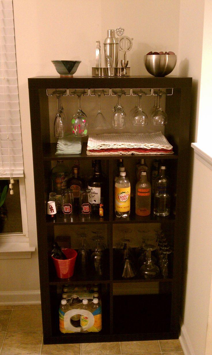 Ikea under cabinet glass rack for Ikea wine shelf