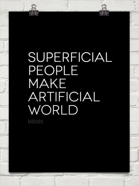 Superficial People Quotes. QuotesGram