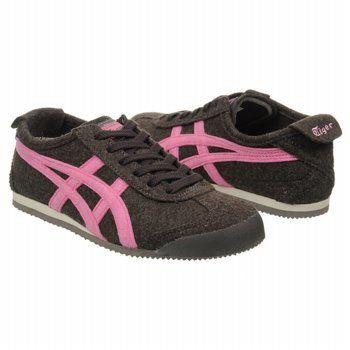 Onitsuka Tiger Women`s Mexico 66 Shoes Dk Grey Rose Pink