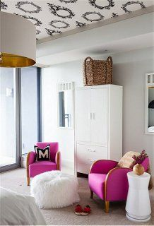 Ceiling papered! Designer Decorating Tips for Common Design Mistakes -- One Kings Lane