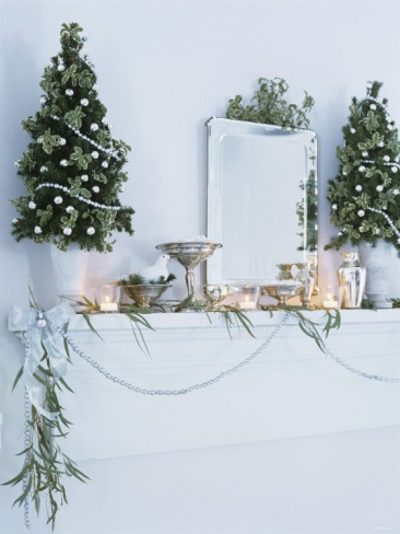 Window Sill Decorated For Christmas
