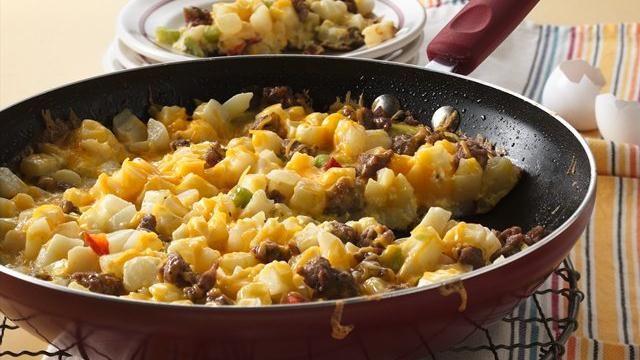 Cheesy Potato and Sausage Frittata   Recipe