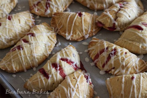 Strawberry Hand Pies -- yummy & fun for after school snacks & to tuck...