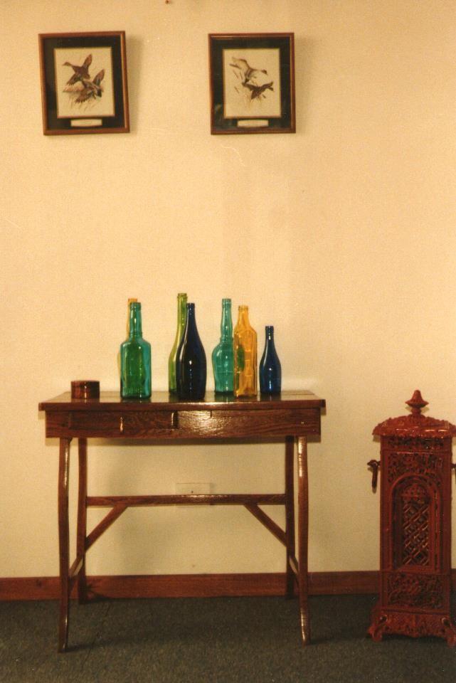 Recibidor Con Botellas Pintadas Lacas Vitrales