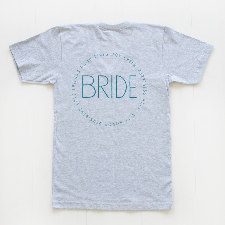 custom bridal party v necks | wedding chicks