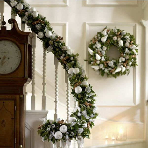 Christmas Staircase Decorations Christmas Pinterest