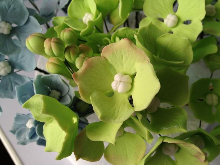 how to make hydrangeas gumpaste