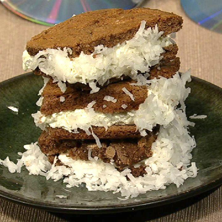 the chew | Recipe | Carla Hall's Fro-Yo Brownie Sandwiches