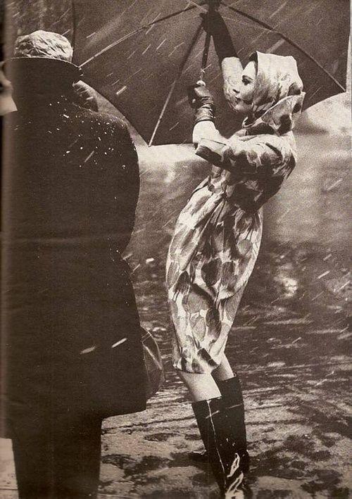Caught in the Rain | Epiphany People: Glamorous Women ...