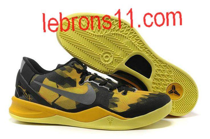 Kobe 8 Girls Black Maize Basketball Shoes for Womens